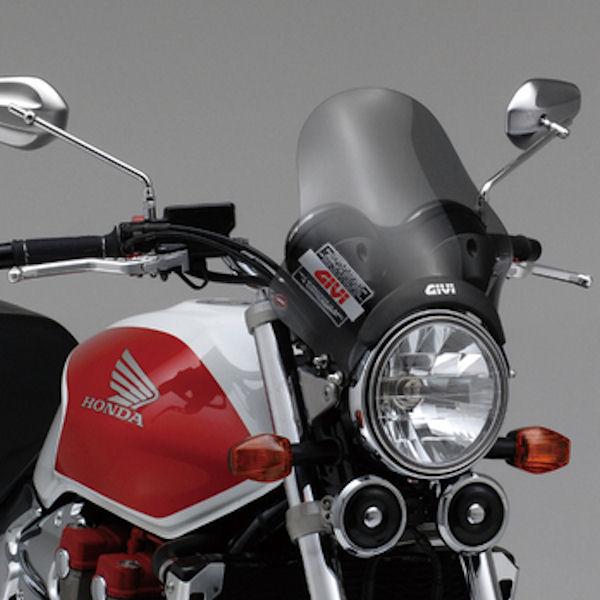 デイトナ DAYTONA 47726 GIVI ウインドスクリーン セミスモーク A200 H295×W323mm ヘッドライトステークランプ 汎用 CB400SF
