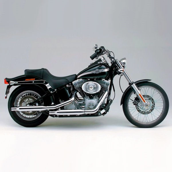 デイトナ DAYTONA 49069 スリップオンマフラー ストレートカット '04~'06年 SOFTAIL FXST/FXSTS/FXSTB