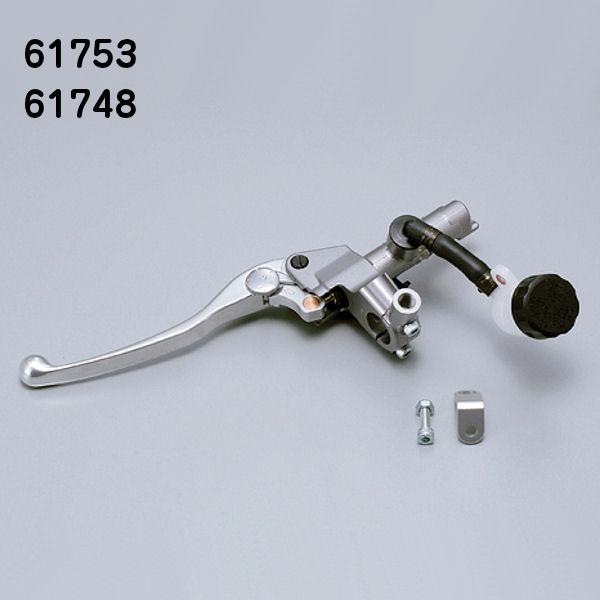 デイトナ DAYTONA 61753 クラッチ マスターシリンダーキット 5/8インチ(15.9mm) シルバー/バフクリア (横型/タンク別体式/5段切り替え) NISSIN 汎用