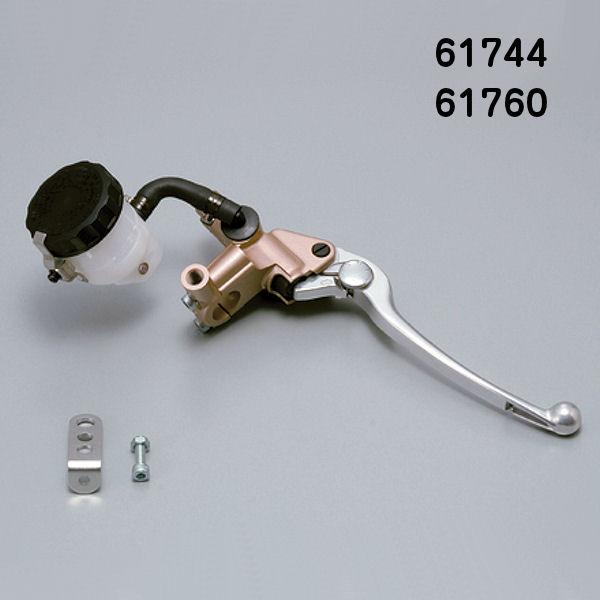 デイトナ DAYTONA 61760 ブレーキ マスターシリンダー 14mm ゴールド/バフクリア (横型/タンク別体式) NISSIN 汎用