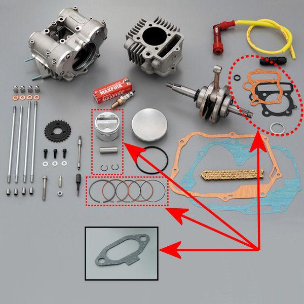 デイトナ DAYTONA 69668 鍛造ピストンキット 54mm DOHC ツインカムヘッド(69646)補修用 モンキー ゴリラ