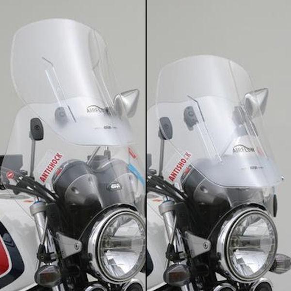 デイトナ DAYTONA 93952 GIVI ウインドスクリーン クリア AF49 H410~530mm×W520mm Fフォーク・ハンドルクランプ 汎用 CB400SF