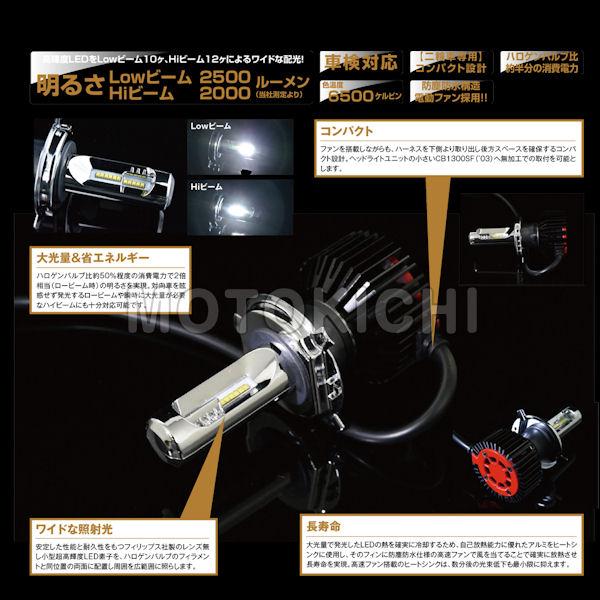 デイトナ DAYTONA 94282 ヘッドランプ用LEDバルブ フォース・レイ H4 Hi/Low LEDライト SV650