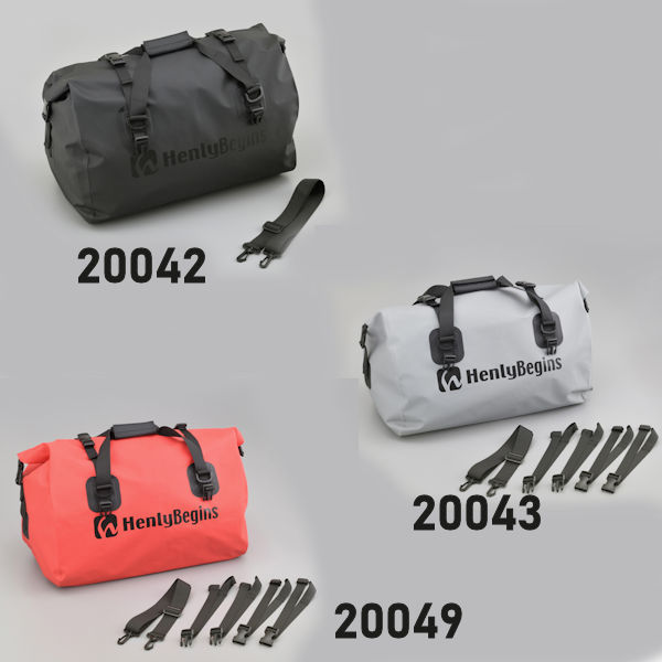 デイトナ ヘンリービギンズ 防水シートバッグ [ギフト/プレゼント/ご褒美] DH-749 限定特価 DAYTONA 20042 20043 14Kg H350×W550×D330mm レッド 20049 ブラック グレー