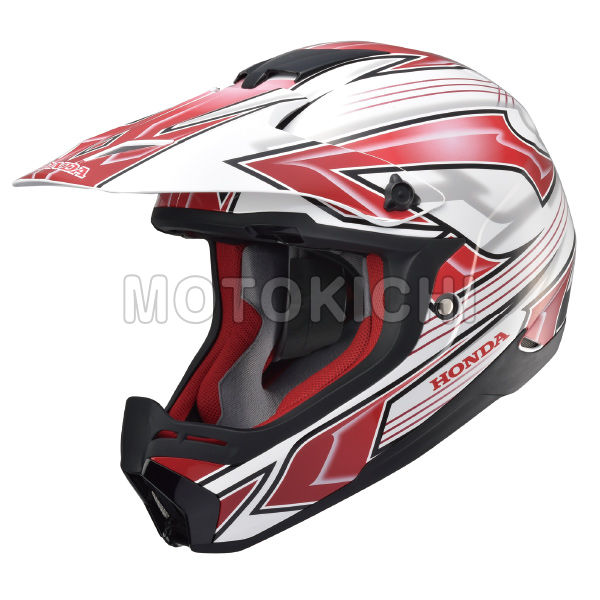 HONDA純正 Honda XP913 CHARGER ホンダオリジナル ヘルメット ホワイト×レッド オフロード
