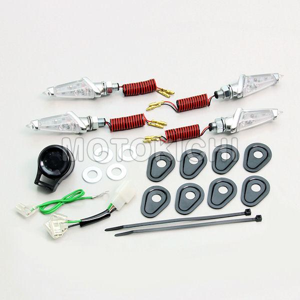 ハリケーン (HURRICANE) HA5226MC LEDダガーウインカーキット メッキボディ クリアレンズ YAMAHA YZF-R25/R3 MT-25/03