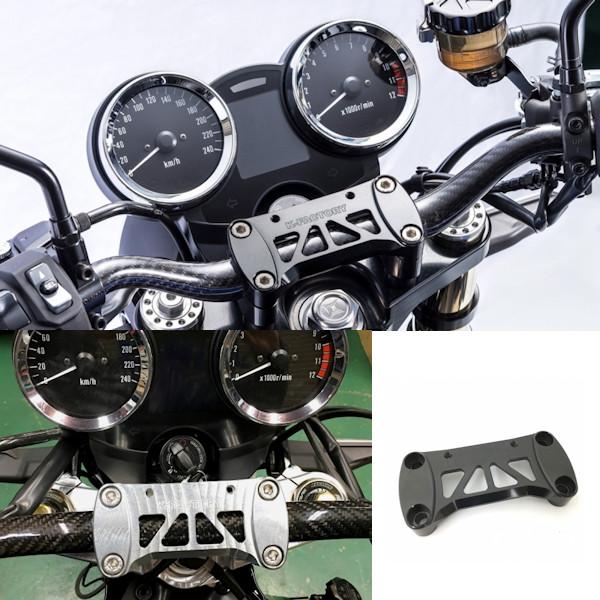 K-FACTORY Z900RS ハンドルクランプ シルバー ブラック