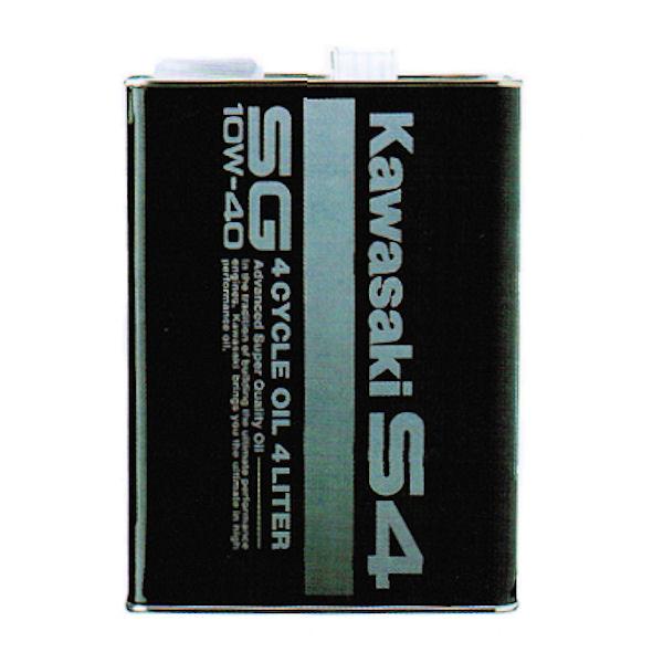 カワサキ KAWASAKI あす楽対応 KAWASAKI純正 J0246-1012 全品送料無料 SG10W-40 カワサキS4 豊富な品 J0146-0012 エンジンオイル 4リットル缶