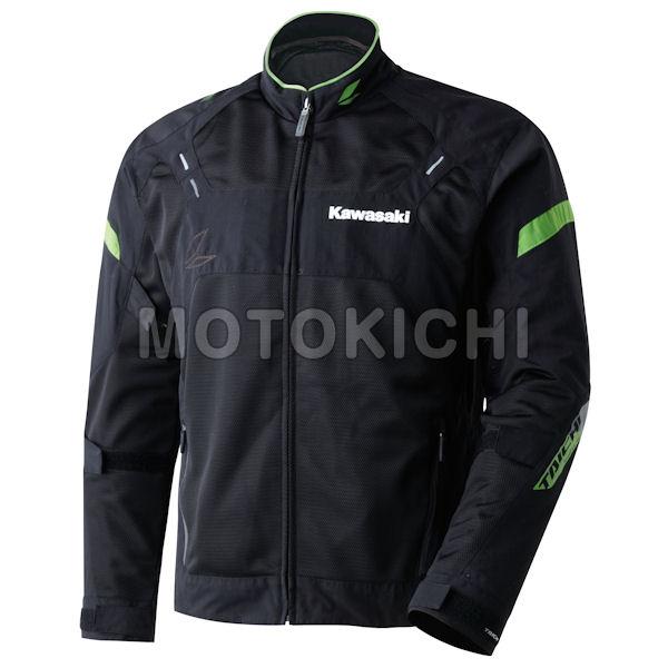 Kawasaki純正 カワサキ クロスオーバーメッシュジャケット ブラック/グリーン J8001-2536 J8001-2537 L LLサイズ