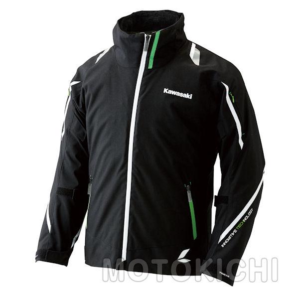 Kawasaki×RSタイチ カワサキ オールシーズンジャケット ブラック/グリーン J8001-2619 J8001-2622