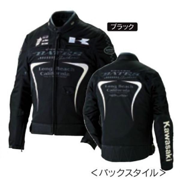 カワサキ サイズ:L KAWASAKI レーシングメッシュブルゾン フレアパターン ナイロンジャケット