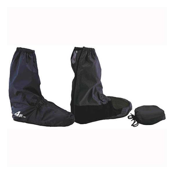 4R ブーツカバー 大決算セール キジマ FR-153113 ブーツ用レインカバー Mサイズ 左右セット ブラック 激安特価品