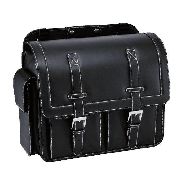 キジマ KIJIMA FR-A00001 サドルバックL 380(H)×400(W)×180(D) 約20L PVC製合成皮革 ブラック BOLT ハーレー