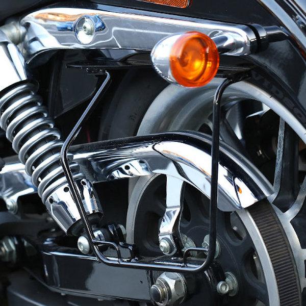 キジマ KIJIMA HD-08009 サドルバッグガード オールインワン DHW対応 ブラック/レフト 左側 FXDL '06~'17y