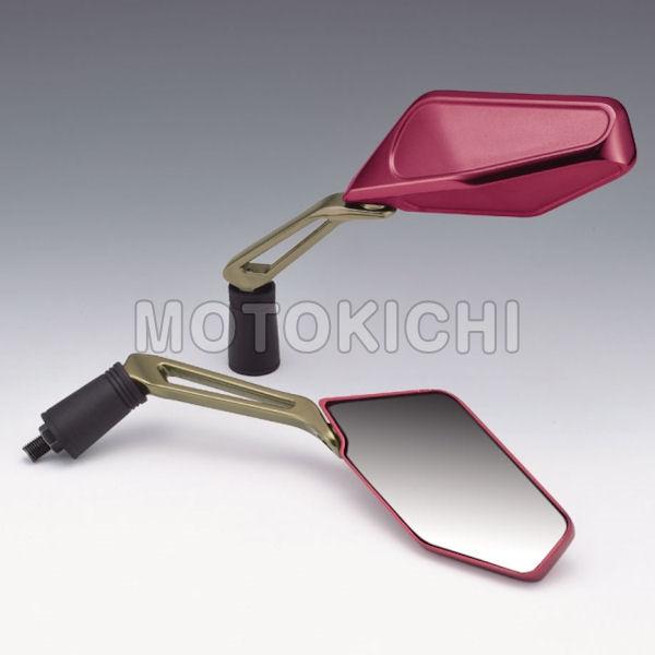 キジマ (KIJIMA) EURO 01ミラー 203-8070 レッド/Sゴールド 左右セット 汎用