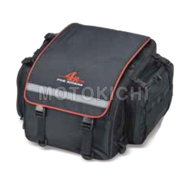 キジマ KIJIMA FR-A00026 Rhyme ツーリングシートバックL 縦350×横350(+100)mm×高さ250mm 容量26L(32L) ブラック/レッド