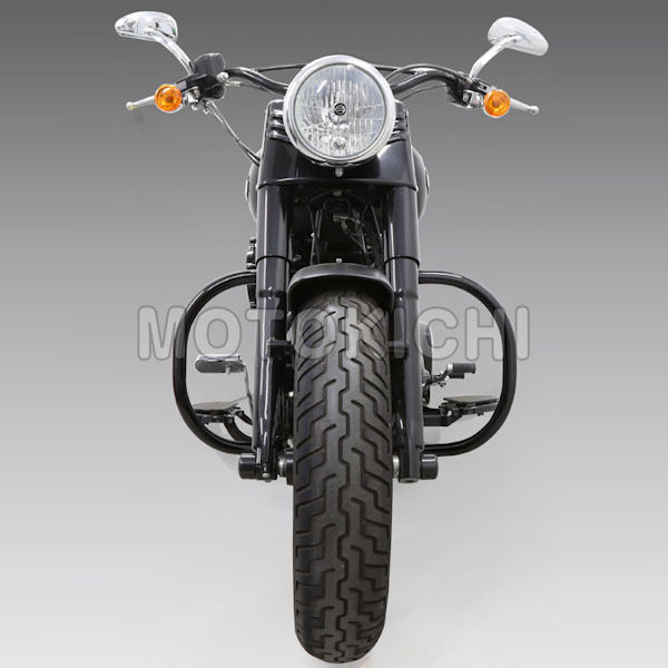 キジマ HD-05066 エンジンガード ブラック ハーレー FL系ソフテイル '00~'17年 FLS FLSTFB等