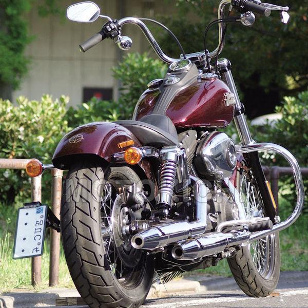 キジマ (KIJIMA) HD-01447 サイドマウントナンバーステー ハーレー ダイナストリートボブ FXDB