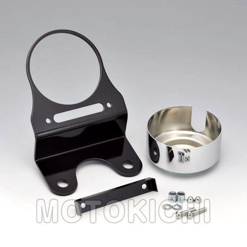 キジマ KIJIMA HD-01920 メーター&インジケーター移動ステー ブラック/クローム ハーレーFXSB Breakout