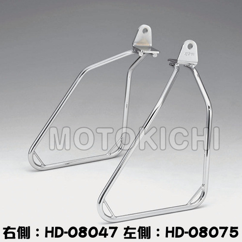 キジマ KIJIMA HD-08074 サドルバックサポート 右側 クローム ハーレー FXSB Breakout
