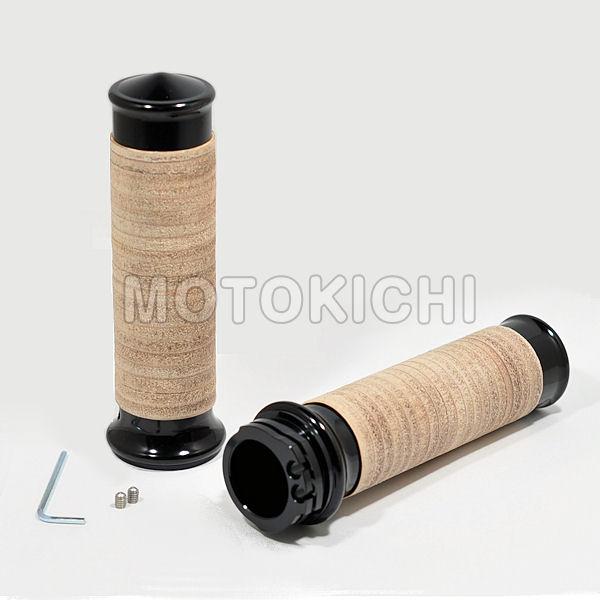 キジマ KIJIMA HD-04790 メトラグリップ ブラック/タンレザー インチグリップ ハーレー