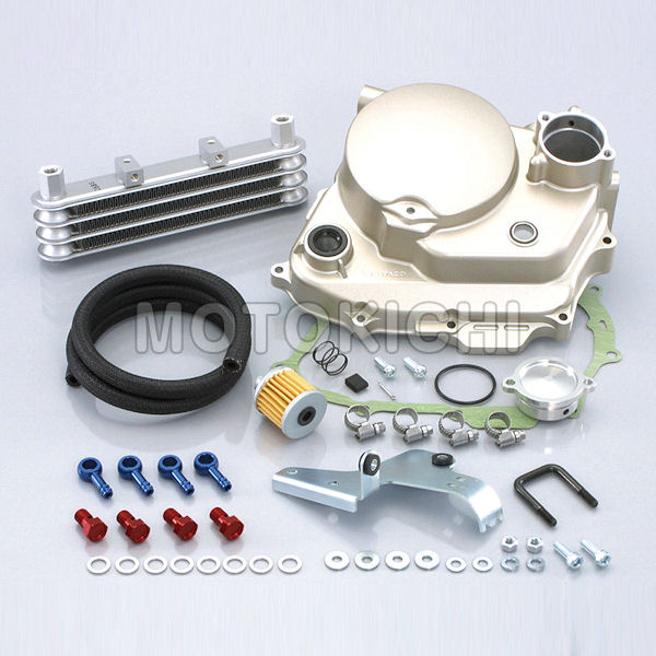 キタコ KITACO 360-1134210 スーパーオイルクーラーキット 3段コア キタコ製ULTRAクラッチカバー付フルKIT 用 ホンダ XR50/XR100モタード
