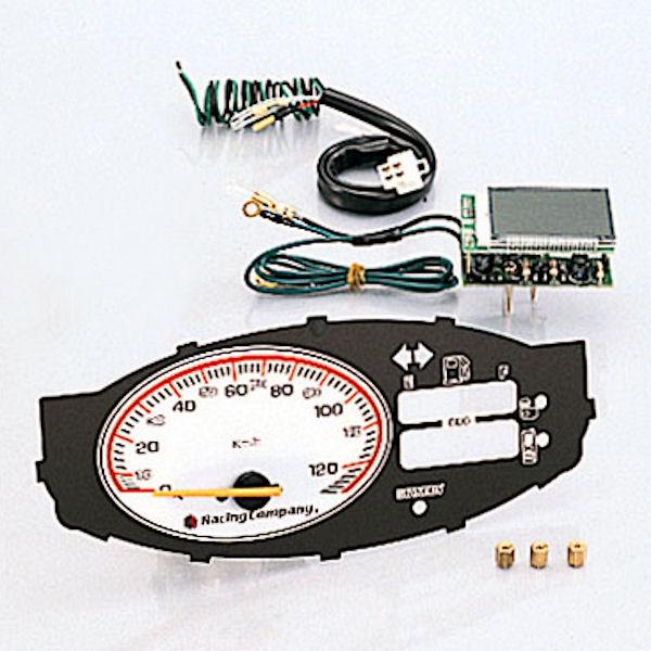 キタコ KITACO 752-1124700 スピードメーター 120Km 液晶オド/燃料メーター装備 ノーマルメーターケース用 ホンダ スマートDIO