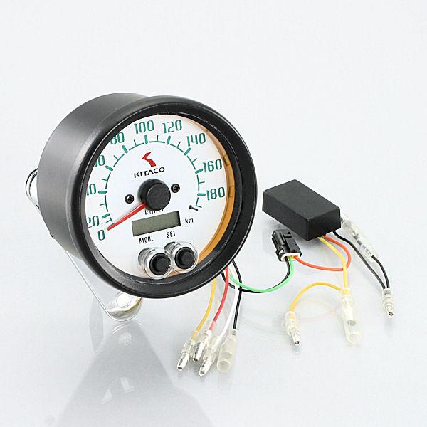 キタコ KITACO 752-0710010 電気式スピードメーター φ80 180Km 汎用