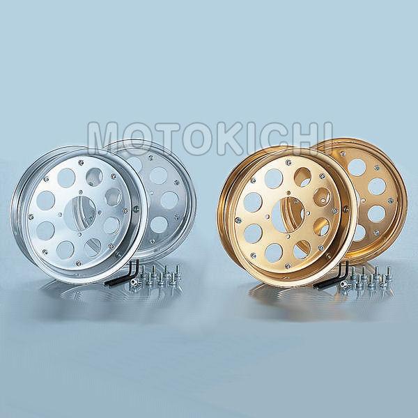 キタコ KITACO アルミホイール 2本セット 10インチ 10×2.50 ホンダ モンキー ゴリラ 509-1014000:シルバー 509-1014100:ゴールド