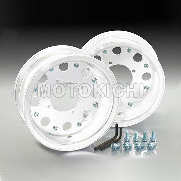 キタコ KITACO 509-1123200 8インチアルミワイドホイール 2本セット ホワイト 8インチ×3.5 モンキー ゴリラ