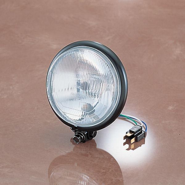 キタコ KITACO 103-80-0001-00 5-3/4インチ ヘッドライト 12V-60/55W スチール製ブラック 汎用