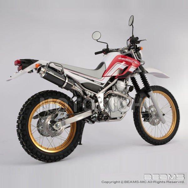 BEAMS SS300カーボン アップタイプ スリップオンマフラー SEROW250 Fi 2008~ (JBK-DG17J) セロー