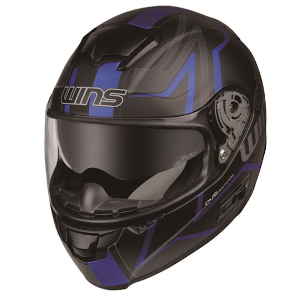 WINS FF-COMFORT GT-Z マットブラック×ブルー フルフェイスヘルメット