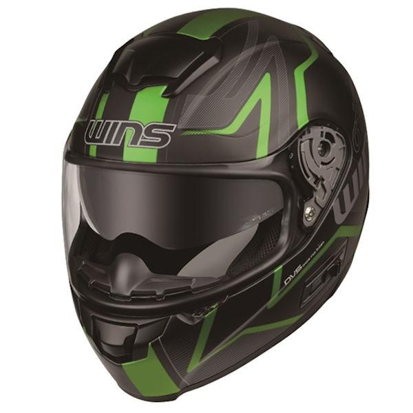WINS FF-COMFORT GT-Z マットブラック×グリーン フルフェイスヘルメット