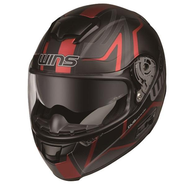 WINS FF-COMFORT GT-Z マットブラック×レッド フルフェイスヘルメット
