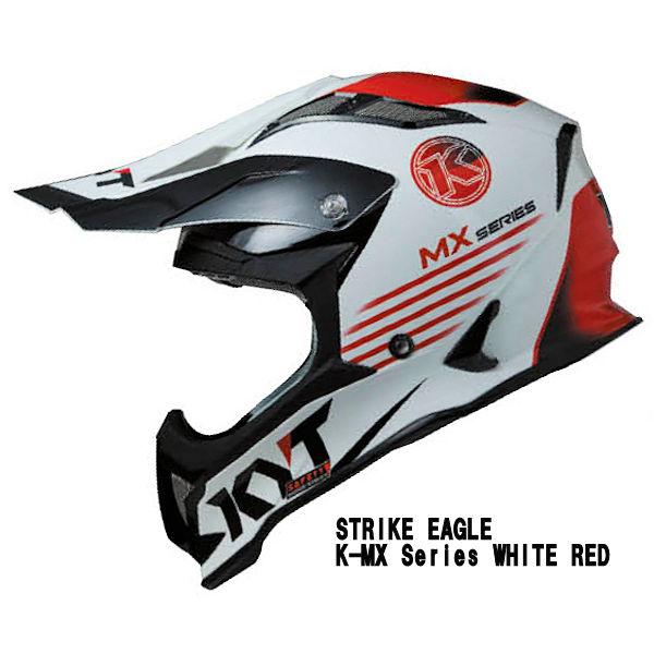 KYT STRIKE EAGLE K-MX Series WHITE RED モトクロスヘルメット K-MX シリーズ ホワイト/レッド