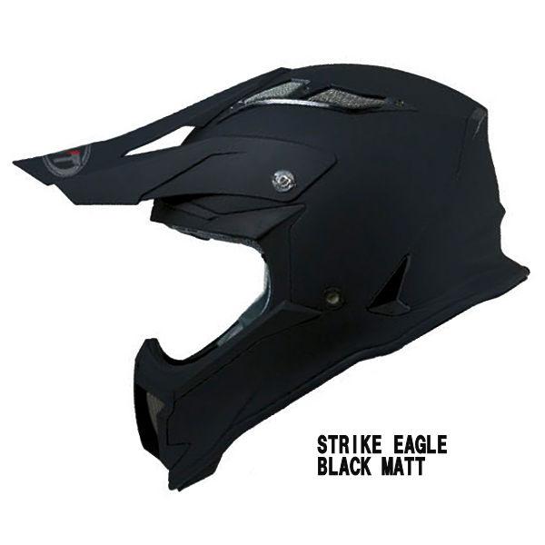KYT STRIKE EAGLE BLACK MATT モトクロスヘルメット マットブラック