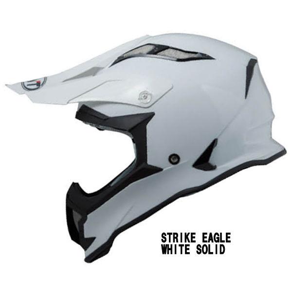 KYT STRIKE EAGLE WHITE SOLID モトクロスヘルメット ソリッドホワイト