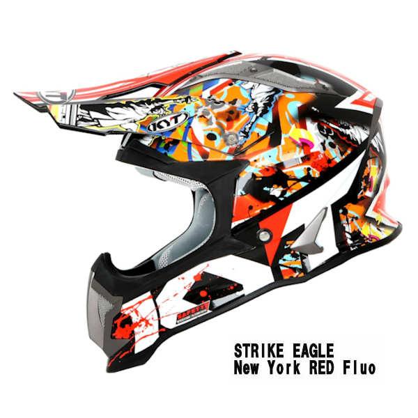 KYT STRIKE EAGLE New York RED モトクロスヘルメット ニューヨーク レッド フロー