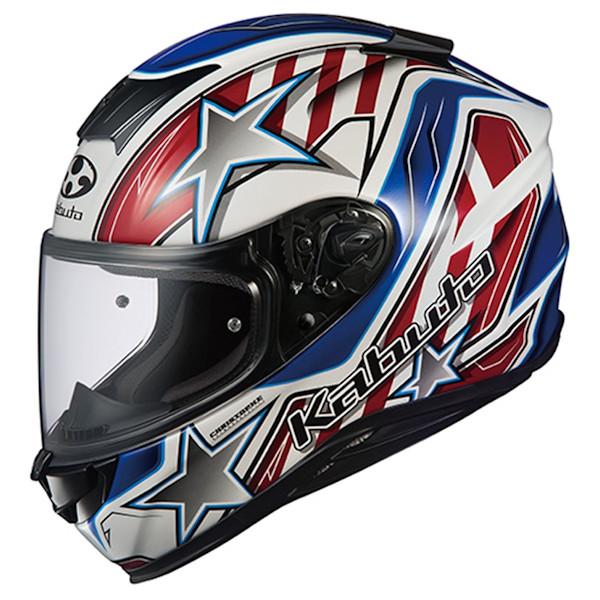 OGKカブト AEROBLADE5 VISION フルフェイスヘルメット ホワイトブルーレッド XS~XXLサイズ エアロブレード5