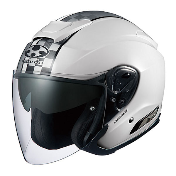 OGKカブト ASAGI SPEED ホワイト オープンフェイスヘルメット ジェットヘルメット