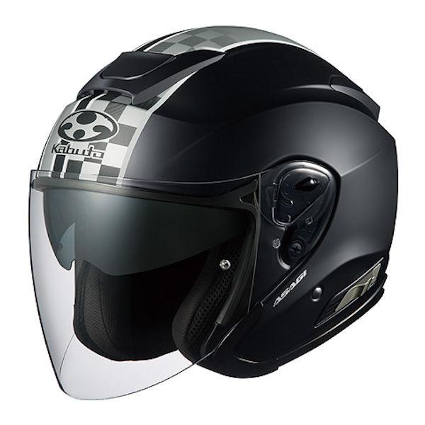 OGKカブト ASAGI SPEED ブラック オープンフェイスヘルメット ジェットヘルメット