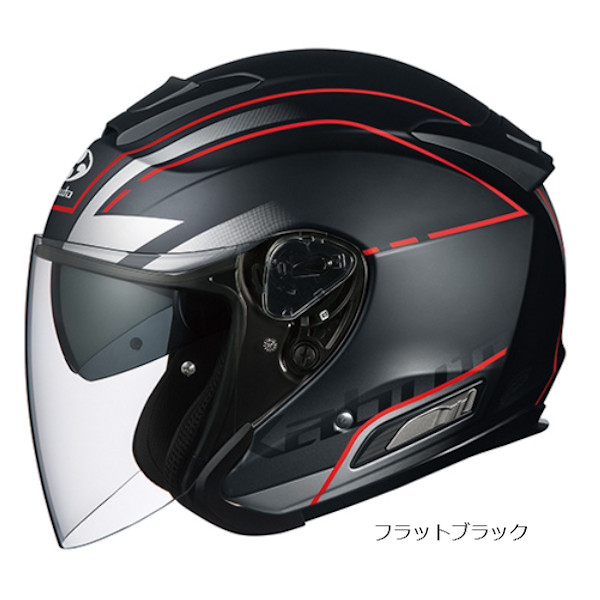 OGKカブト ASAGI BEAM ビーム フラットブラック オープンフェイスヘルメット ジェットヘルメット