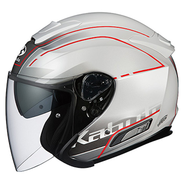 OGKカブト ASAGI BEAM ビーム パールホワイト オープンフェイスヘルメット ジェットヘルメット