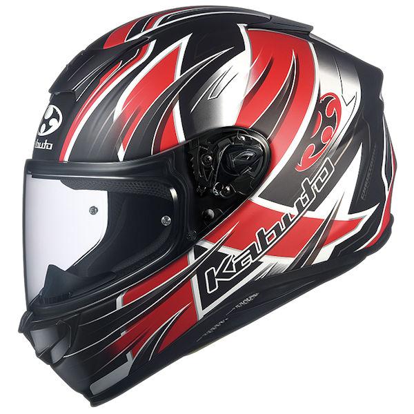 OGKカブト AEROBLADE5 HURRICANE ハリケーン フラットブラックレッド フルフェイスヘルメット XS~XXLサイズ エアロブレード5