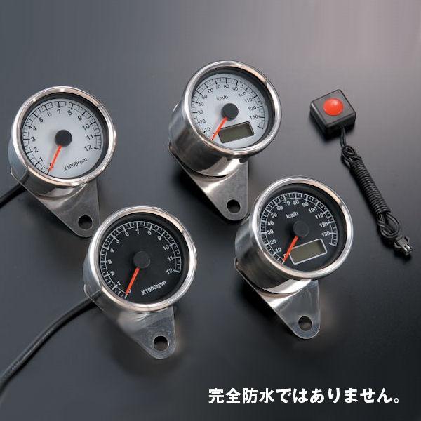 Posh ポッシュ 100017-96 ブラックパネル LEDバックライト ミニタコメーター ステッピングモーター仕様 12,000rpm表示 汎用