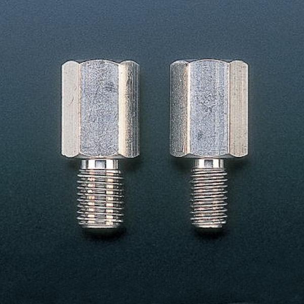 郵送可 25%OFF 配送方法変更要 ポッシュ 001715 ステンレス ミラーアダプター M10正バイク側 → ミラー側M8正 通販 1個 汎用