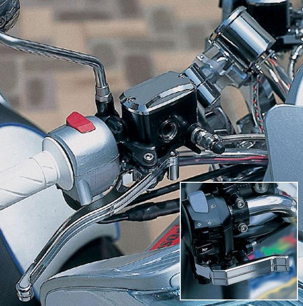 ポッシュ 026625 メッキブレーキセット(マスターシリンダーキャップ・ブレーキレバー・パーキングレバー) ヤマハ グランドマジェスティ250/400