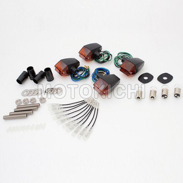 (POSH) ポッシュ 031446-56 車種専用 クラシカルスリム&シャープタイプウインカー 1台分セット ブラックボディ/オレンジレンズ ゼファー ZEPHYR1100/RS 750/RS 400/χ ZRX400II