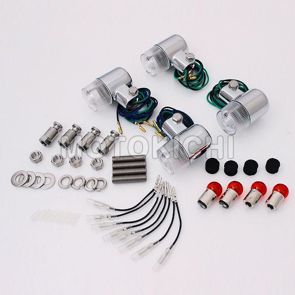 (POSH) ポッシュ 031492-33 車種専用 71タイプウインカー 1台分セット メッキボディ/クリアレンズ ゼファー ZEPHYR1100/RS 750/RS 400/χ ZRX400II